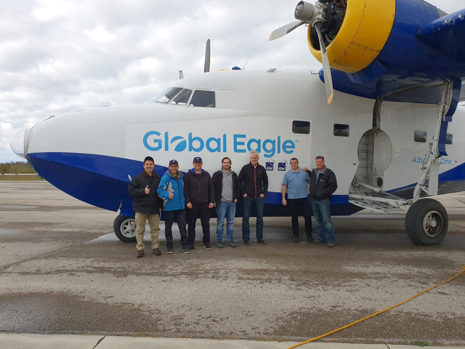 Global Eagle and Gilat Use Telesat's Phase 1 LEO Satellite to Demonstrate First Ever,  Live In-flight Broadband Connectivity via LEO